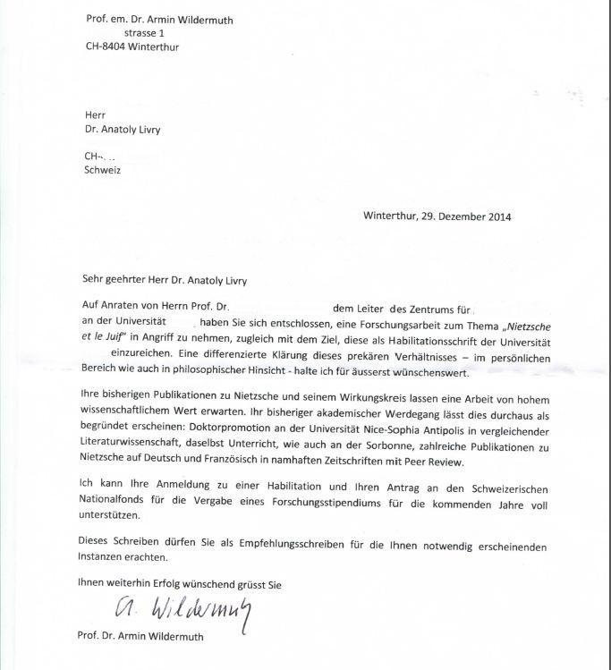 lettre de recommandation pour doctorat